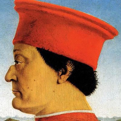 Cicatrices en el Arte. Conferencia presentación del libro. Retrato Federico da Montefeltro, Duque de Urbino
