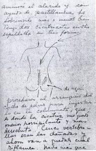 Cicatrices en el Arte. Conferencia presentación del libro. Dibujo Frida Kahlo