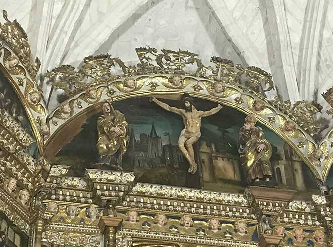 Retablo de San Pelayo, en Olivares de Duero. Detalle. Escapada Olga Marqués. Foto 5