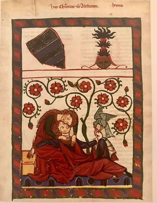 Codex Manesse. Manuscrito medieval iluminado Heidelberg