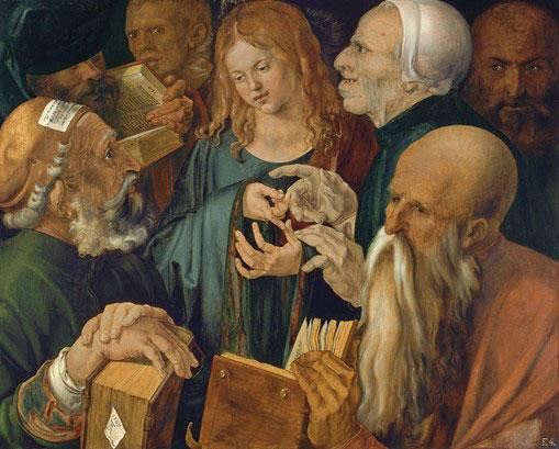 Cristo entre los doctores. Durero