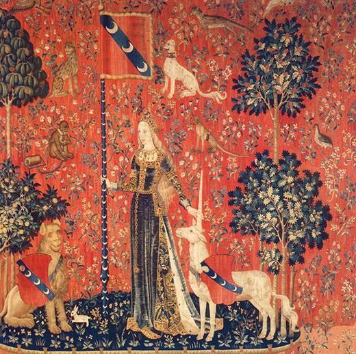 Tacto. Tapiz medieval, siglo XV