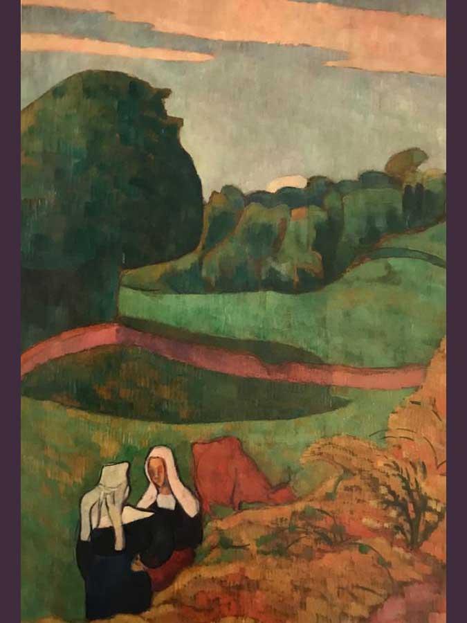Émile Bernard….Paisaje con dos bretonas y vaca. Foto 14