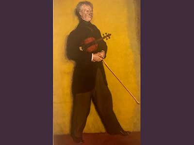 Retrato del violinista Larrapidi