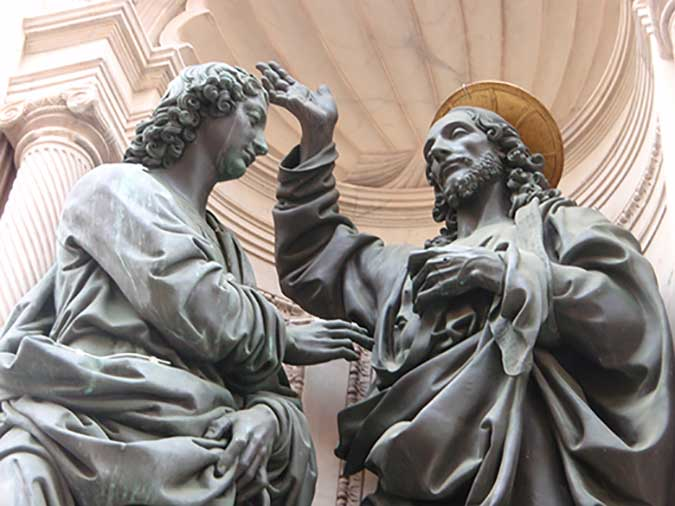 Cristo y Santo Tomás. Andrea Del Verrocchio. Medicina, Piel y Arte. Olga Marqués Serrano