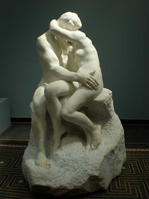 El Beso. Auguste Rodin.Medicina, Piel y Arte. Olga Marqués Serrano
