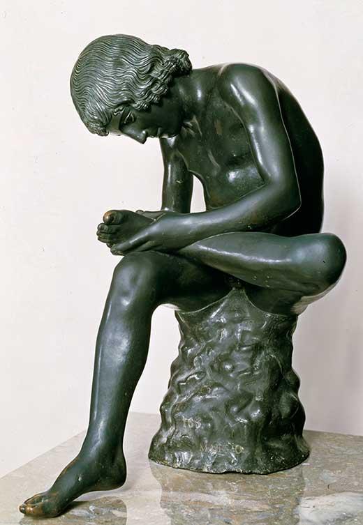 Espinario. Bronce. Medicina, Piel y arte-520. Una sección de Olga Marques