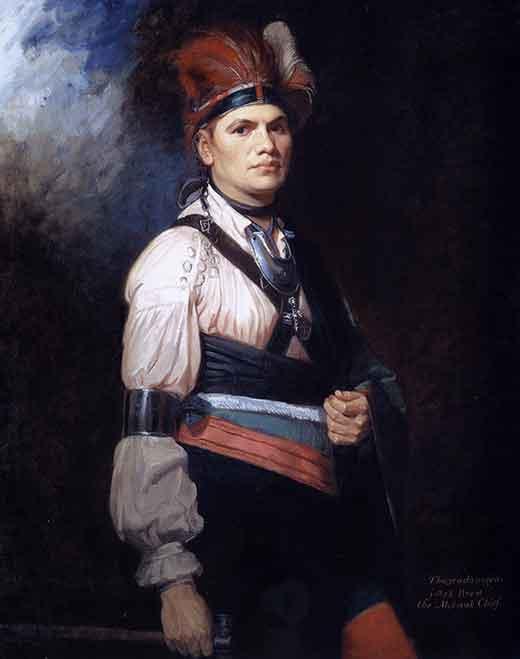 Retrato de Joseph Brant (Thayendanegea). George Romney. Medicina Piel y arte. Una sección de Olga Marqués Serrano
