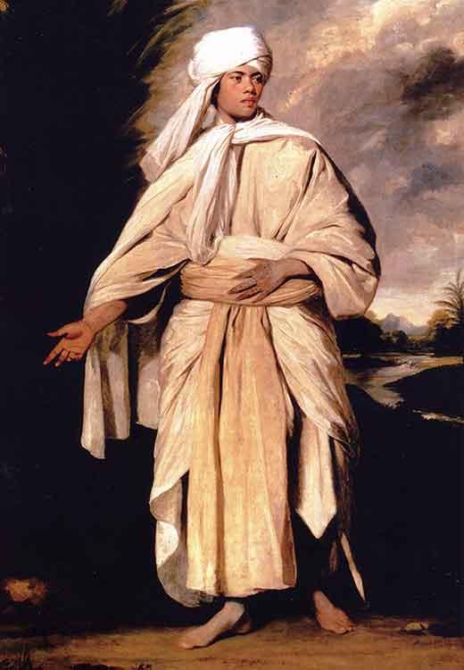 Joshua Reynolds. Omai. Una sección de Olga Marques