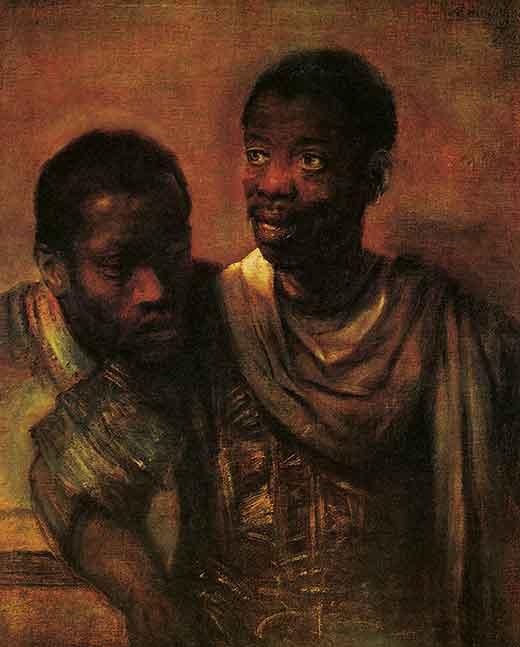 Dos Negros. Rembrandt. Medicina, Piel y Arte.