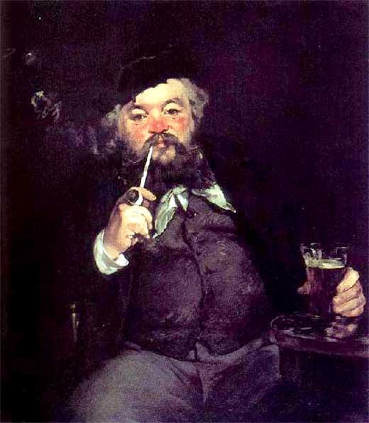 El buen bock, 1873. Manet. Medicina, piel y arte. Olga Marqués.