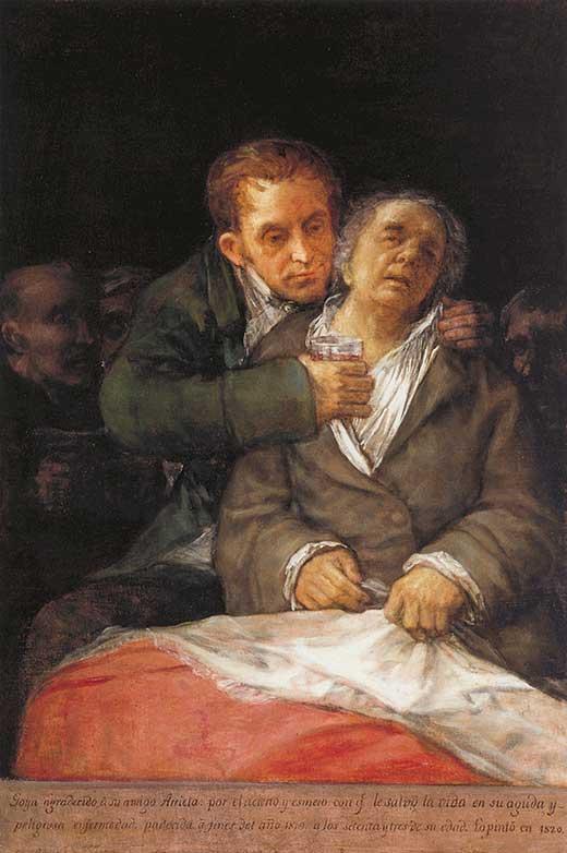 Autorretrato con el doctor Arrieta. Medicina Piel y Arte. Una sección de Olga Marques