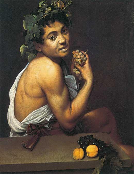 Baco enfermo. Caravaggio. Medicina, Piel y Arte. Olga Marqués.