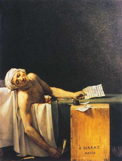 La muerte de Marat. Medicina, Piel y Arte. Olga Marqués
