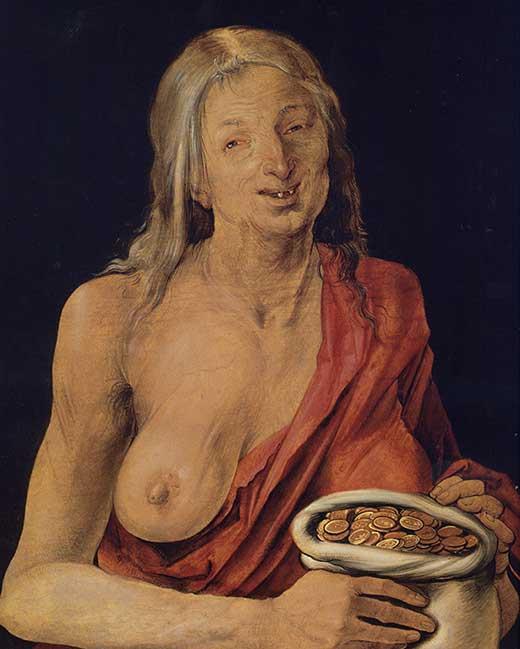 Avaricia. Alberto Durero . Medicina, Piel y Arte. Olga Marqués