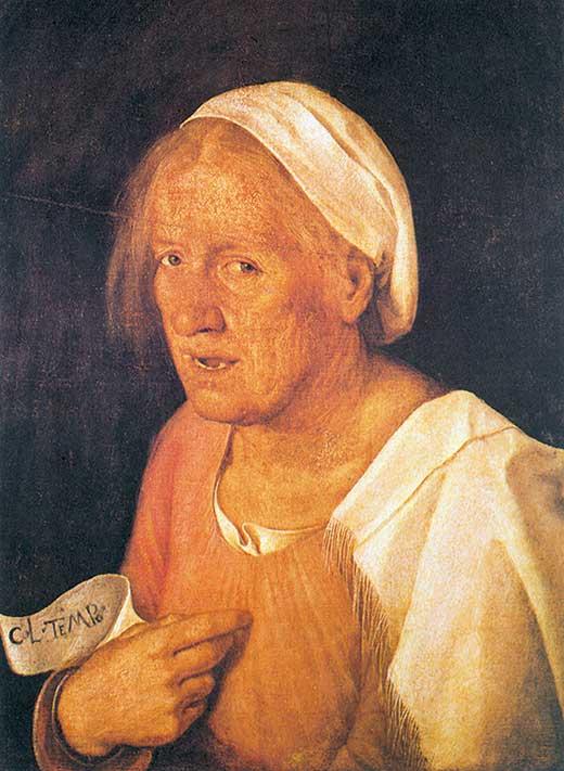 Retrato de vieja. Giorgione . Medicina, Piel y Arte. Olga Marqués