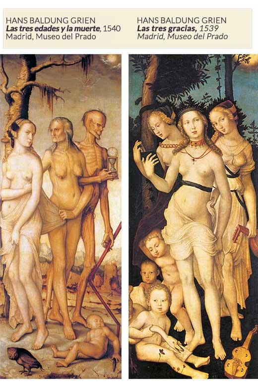 Las tres edades de la vida y las tres gracias. Medicina, Piel y Arte. Olga Marqués