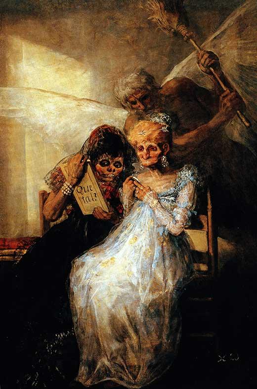 Las viejas o El tiempo. Goya. Medicina, Piel y Arte. Olga Marqué