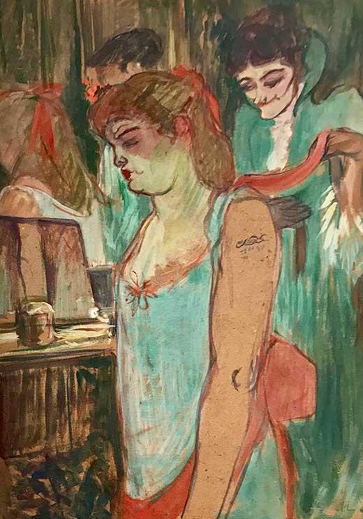 Mujer tatuada. Henri de Toulose-Lautrec. Medicina, Piel y Arte. Olga Marqués