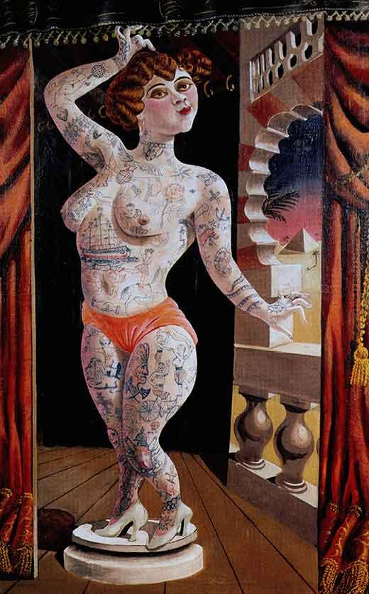 Suleika, el prodigio tatuado. Otto Dix. Medicina, Piel y Arte. Una sección de Olga Marqués