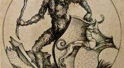 Imagen 10. Hombre salvaje con escudo,
