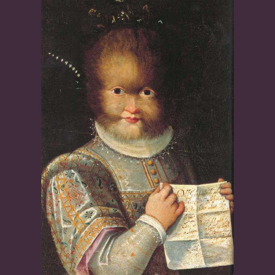 Imagen 16. LAVINIA FONTANA DE ZAPPIS. Retrato de Antonietta Gonsalvus, hacia 1584
