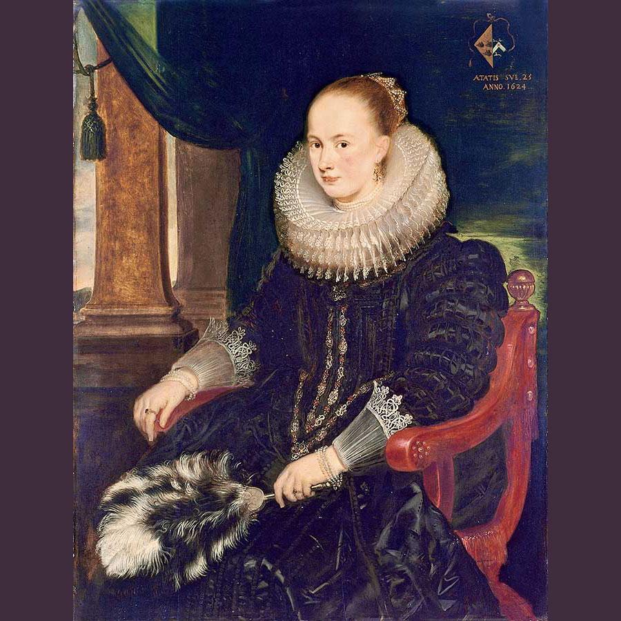 Imagen 21. CORNELIS DE VOS. Retrato de Antonia Canis,1624