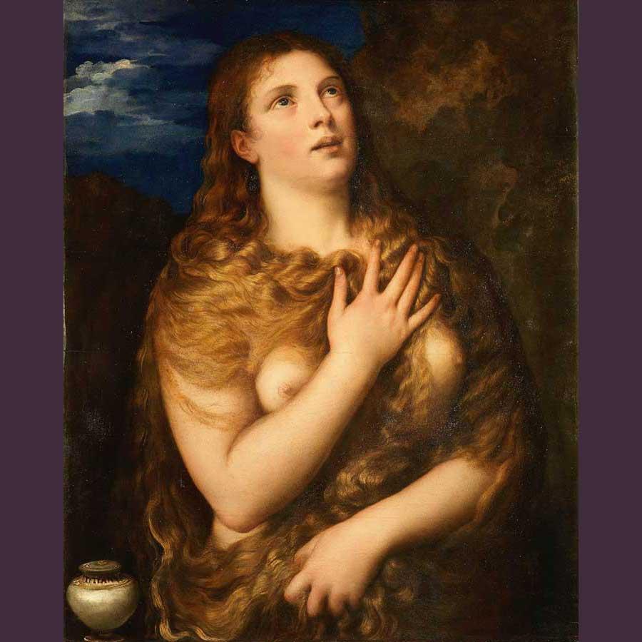 Imagen 6. TIZIANO. Magdalena penitente,1530-1535