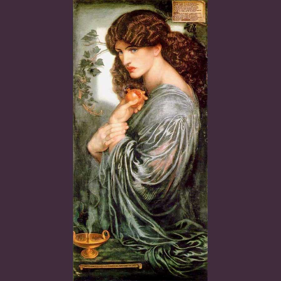 Imagen 7. DANTE GABRIEL ROSSETTI. Proserpina,1874