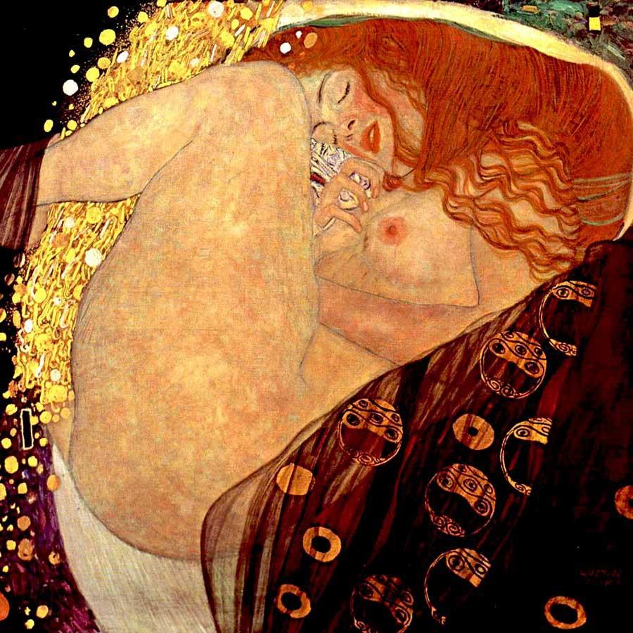 Imagen 9. GUSTAV KLIMT. Dánae, 1907-1908